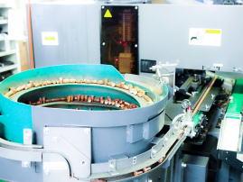 ヤマイチのNC旋盤や自動検査装置による電極チップの大ロット量産加工